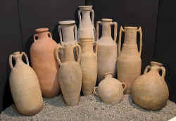 terracotta wine amphorae