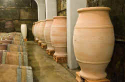 Domaine Viret wine in terracotta containers